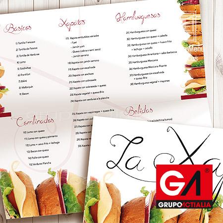 115 cartas de menú para restaurantes restauración grupo actialia