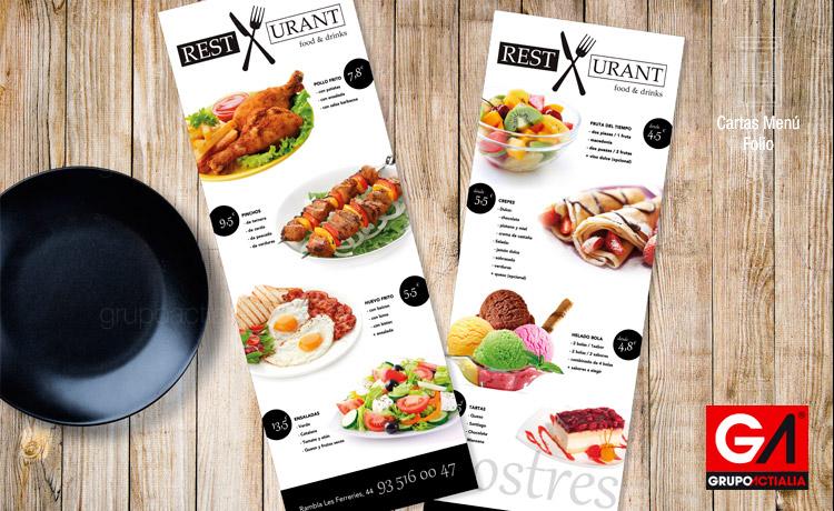 125 cartas men restaurantes folios a3 estrecho for Disenos de menus para restaurantes
