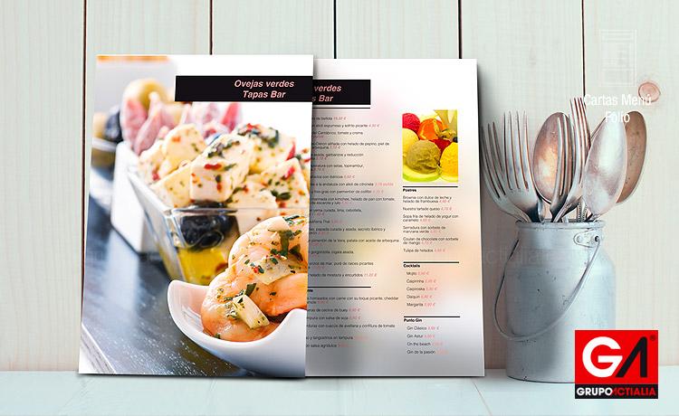 89 cartas men restaurantes folios a4 restauraci n for Disenos de menus para restaurantes
